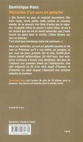 Mémoires d'un ours en peluche - 4ème de couverture - Format classique