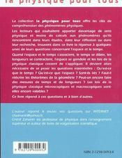 Espace Et Temps - 4ème de couverture - Format classique