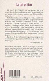 Le Lait De Tigre - 4ème de couverture - Format classique