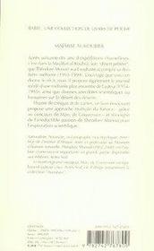 Majabat Al-Koubra - 4ème de couverture - Format classique