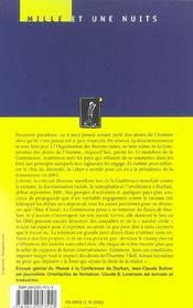 L'Onu Contre Les Droits De L'Homme ? - 4ème de couverture - Format classique