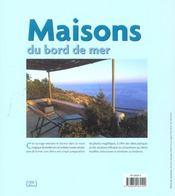 Maisons Du Bord De Mer - 4ème de couverture - Format classique