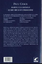 Marins à la bataille t.2 ; le XIX siècle et l'Indochine - 4ème de couverture - Format classique