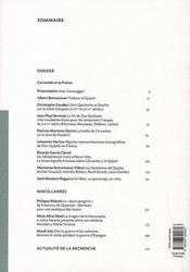 Revue Melanges N.37-2 ; Cervantès Et La France ; Mélanges De La Casa De Velazquez T.37-2 - 4ème de couverture - Format classique