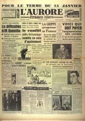 Aurore France Libre (L') N°1346 du 11/01/1949 - Couverture - Format classique