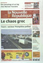 Nouvelle Republique (La) N°20469 du 14/02/2012 - Couverture - Format classique