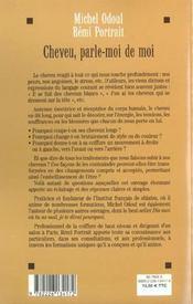 Cheveu, Parle-Moi De Moi - Le Cheveu, Fil De L'Ame - 4ème de couverture - Format classique