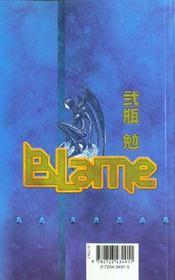 Blame - Tome 04 - 4ème de couverture - Format classique