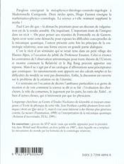 De L'Univers Chronique D'Un Seminaire Imaginaire - 4ème de couverture - Format classique
