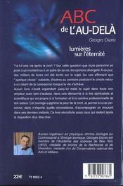 Abc de l'au-dela ; lumieres sur l'eternite - 4ème de couverture - Format classique