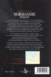 Promenades En Normandie Romane - 4ème de couverture - Format classique