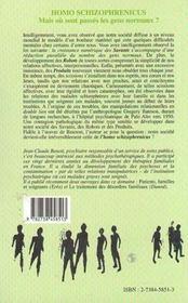 Homo Schizophrenicus ; Mais Ou Sont Passes Les Gens Normaux ? - 4ème de couverture - Format classique