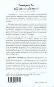 Enseigner Les Litteratures Africaines T.1 ; Aux Origines De La Negritude - 4ème de couverture - Format classique