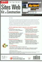 Micro Application Sites Web Kit De Construction - 4ème de couverture - Format classique