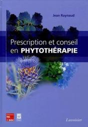 Prescription et conseil en phytothérapie - Couverture - Format classique