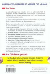 Les Cles De L'E-Mail Marketing 2e Edition Professionnel Pratique Concret - 4ème de couverture - Format classique