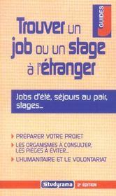 Trouver un job ou un stage a l'etranger - Intérieur - Format classique
