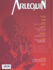 Arlequin t.2 ; l'as, le roi, la dame et le valet - 4ème de couverture - Format classique