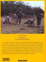Connaitre La Chasse Du Sanglier - 4ème de couverture - Format classique