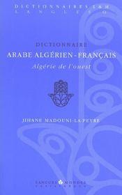 Dictionnaire Arabe Algerien-Francais - Intérieur - Format classique