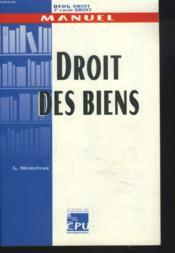 Droit Des Biens ; Deug De Droit 2e Cycle - Couverture - Format classique