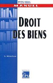 Droit Des Biens ; Deug De Droit 2e Cycle - Intérieur - Format classique