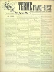 Feuille De Zo D'Axa (La) N°1 - Intérieur - Format classique