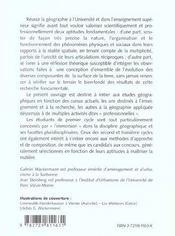 Reussir La Geographie A L'Universite - 4ème de couverture - Format classique