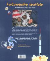 La conquête spatiale racontée aux enfants - 4ème de couverture - Format classique