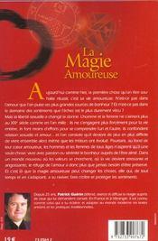 Magie Amoureuse - 4ème de couverture - Format classique