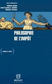 Philosophie de l'impôt - Couverture - Format classique