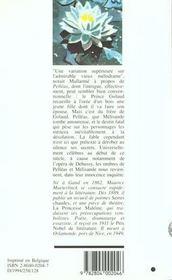 Pelleas Et Melisande - 4ème de couverture - Format classique