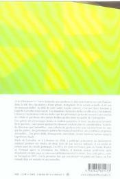 Vive l'harmonie - 4ème de couverture - Format classique