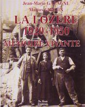 Lozere 1920-1950 - Intérieur - Format classique