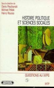 Histoire politique et sciences sociales - Couverture - Format classique