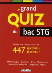 Le grand quiz du bac STG  - Collectif