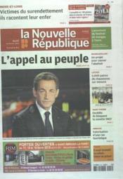 Nouvelle Republique (La) N°20471 du 16/02/2012 - Couverture - Format classique