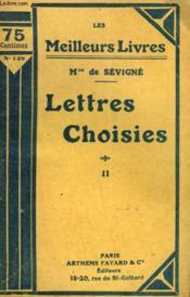 Lettres Choisies. Tome 2. Collection : Les Meilleurs Livres N° 148. - Couverture - Format classique