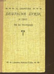 Deutsche Lyrik - Ii Teil - Couverture - Format classique