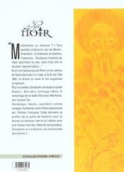 Le lys noir t.2 ; la grande muette - 4ème de couverture - Format classique