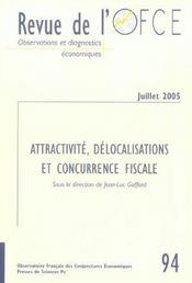Revue De L'Ofce N.94 ; Attractivité, Délocalisations Et Concurrence Fiscale - Intérieur - Format classique