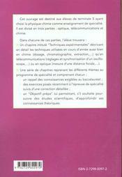 Physique Et Chimie Enseignement De Specialite Terminale S - 4ème de couverture - Format classique