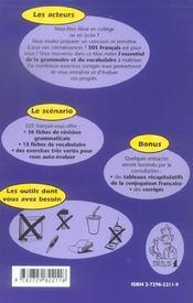 Sos Francais Revision Systematique De La Grammaire Et Du Vocabulaire - 4ème de couverture - Format classique