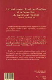 Le patrimoine culturel des caraibes et la convention du patrimoine mondial - 4ème de couverture - Format classique