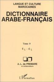 Dictionnaire (T9) Arabe-Francais - Couverture - Format classique