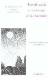 Travail social et sociologie de la modernité - Couverture - Format classique