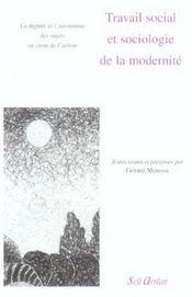 Travail social et sociologie de la modernité - Intérieur - Format classique