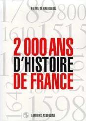2000 Ans D'Histoire De France - Couverture - Format classique