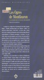 Ogres De Montfaucon - 4ème de couverture - Format classique