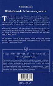 Illustrations De La Franc-Maconnerie - 4ème de couverture - Format classique
